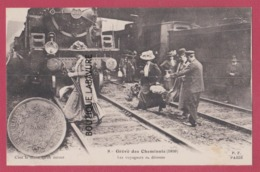 PARIS--GREVE DES CHEMINOTS ( 1910 ) Les Voyageurs En Detresse---animé - Grèves