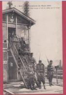 PARIS--GREVE DES CHEMINOTS DU NORD  ( 1910 ) Poste D'Aiguillage Occupé Et Mis En Action Par La Troupe - Grèves
