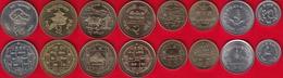 Nepal Set Of 8 Coins: 10 Paisa - 10 Rupees 1994-2009 UNC - Népal
