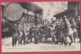 PARIS--GREVE DES CHEMINOTS De L'Ouest-Etat  ( 1910 )Une Cuisine Roulante A L'Interieur De La Gare St Lazare.... - Grèves