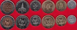 Rwanda Set Of 6 Coins: 1 - 100 Francs 2003-2011 AU-UNC - Rwanda