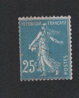 Timbre De France N° 140k Le 25 C Au Type Roulette Oblitéré - 1906-38 Säerin, Untergrund Glatt