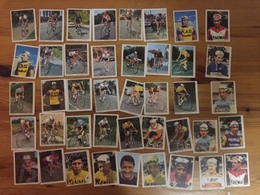 42 Cartes / Cards MONTY Gum / TRIO Gum - NOT Complete - Cyclists - Cyclisme - Ciclismo - Wielrennen