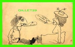 HUMOUR, COMICS - RUPTURE DE PROMESSE DE MARIAGE !  AU CONTRAIRE - CIRCULÉE EN 1904 - - Humour
