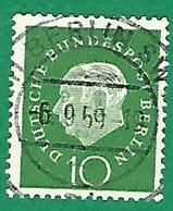 * 1959 N° 163  PRESIDENT THÉODOR HEUSS  6.9.59 BERLIN SW  OBLITÉRÉ TB - [5] Berlin