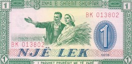 BILLET DE 1 NJË LEK, NEUF-UNC, ALBANIE, 1976 - Albanie