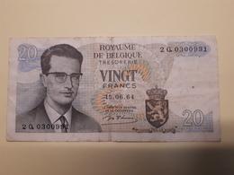 20 Fr Belge Du 15/06/1964 - [ 2] 1831-... : Reino De Bélgica