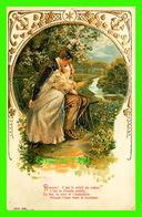 COUPLES - AIMONS ! C'EST LE SOLEIL DU COEUR, C'EST LA VIVANTE POÉSIE - CIRCULÉE EN 1906  EMBOSSÉE - Couples