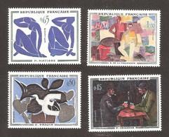 FRANCE N° Yvert 1319/1322 Série Complète Neufs Xx MNH Braque Matisse Cézanne De La Fresnaye - Ungebraucht