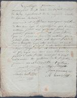 Manuscrit De L'An 4 De La République.Saint-Calais-du-Désert.L.Guilloux,Maire Délivre Une Attestation De Non-immigration. - Manuskripte