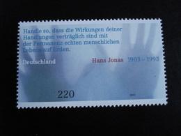 Allemagne - Année 2003 - Citation De Hans Jonas - Y.T. 2165  - Neuf (**) Mint (MNH) - [7] República Federal