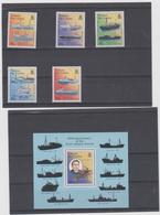 TRISTAN DA CUNHA (GRANDE BRETAGNE) 5 T + 1 BF Neufs Xx - Bateaux Pêche Au Homard  1998 - Tristan Da Cunha