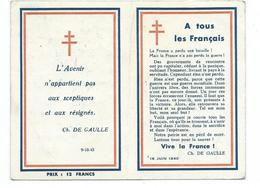 C 8 - PETIT CALENDRIER 1947 -  LETTRE AUX FRANÇAIS - DE GAULLE - 2 SCAN - Calendriers