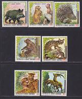 GUINEE EQUATORIALE N°   87, AERIENS 72 ** MNH Neufs Sans Charnière, 7 Val. TB (D7873) Animaux, Protection Nature -1976 - Guinée Equatoriale