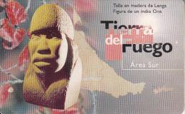 ARGENTINA(chip) - Tierra Del Fuego, Telefonica Telecard(F 07), Chip GEM1, 03/96, Used - Argentina