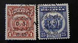 Bolivia - 1937 - Mi:BO 256-7, Sn:BO 235-6, Yt:BO 206-7 O - Look Scan - Bolivien