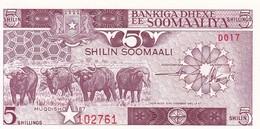 SOMALI 5 SHILIN 1982 / NEUF - Somalia