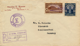 LA CEIBA / Honduras - 1931 , R-Brief über New York Nach Eisenach - Honduras