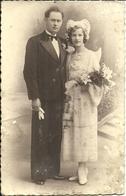 (CARTE PHOTO  )(BRETAGNE )( 29 FINISTERE )( MARIAGE )( PHOTO LE MERDY )( CONCARNEAU ) ( FOLKLORE)( COIFFE ) - Lieux