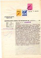 Papel De Certificado De Defuncion Con Fiscales. - España