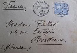 R1606/175 - ✉️ 1910 - PYRAMIDE ET SPHINX DE GISEH N°34 - LETTRE Du CAIRE (EGYPTE) à BORDEAUX (FRANCE) - 1866-1914 Khedivate Of Egypt