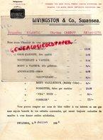 ROYAUME UNI-PAYS DE GALLES- SWANSEA-RARE LETTRE LIVINGSTON & CO- BRIQUETTES ATLANTIC-CHARBON CARDIFF-ANTHRACITE-1895 - Royaume-Uni