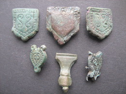 Ancient Medieval Belt Ornaments 9-12 Century - Archaeology