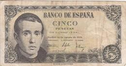 ESPAGNE BILLET 5 PESETAS 1951 - [ 3] 1936-1975 : Regime Di Franco