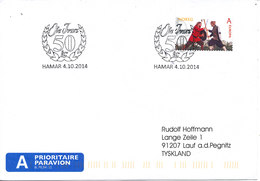 Norway Cover Hamar 4-10-2014 (Ole Ivars 50 Years) - Norway