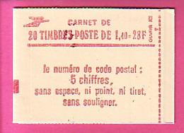 CARNET TYPE SABINE 20 TP à 1.40 N° 2102-C7  C 7 CARNET FERME GOMME BRILLANTE CONF 8 - NEUF LUXE -  FORTE REMISE - Carnets