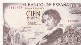 ESPAGNE BILLET 100 PESETAS 1965 - [ 3] 1936-1975 : Regency Of Franco