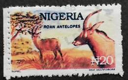 Nigeria 1992-93 Roan Antelopes  USED  POSTAL COUNTERFEIT - Nigeria (1961-...)
