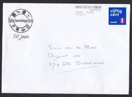 Netherlands: Cover, 2018, 1 Stamp, Private Postal Service Sandd, Present, Gift (traces Of Use) - 2013-... (Willem-Alexander)