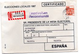 Carta Certificada Con Matasellos De Hamburgo 1987 - [7] República Federal