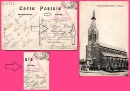 PASSED BY CENSOR 1797 + FIELD POST OFFICE Sur Cp Godewaersvelde - L'Eglise - Cimetière - Animée -  I.P.M. - 1915 - 1902-1951 (Rois)
