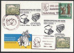JP380   Austria, Österreich - Special Postmark Mineralienschau Des Voöm - Mineral Show Of Voöm 1997 - Minerali