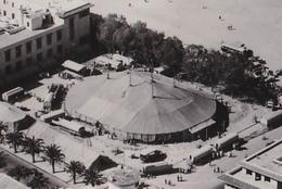 MAROC / CASABLANCA : TENTE Du CIRQUE / PLACE ADMINISTRATIVE / CIRCUS TENT - CARTE VRAIE PHOTO / REAL PHOTO ~ 1950 (aa295 - Zirkus