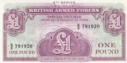 BRITISH ARMED FORCES ONE POUND 4 Th.SERIE / NEUF - Militärausgaben