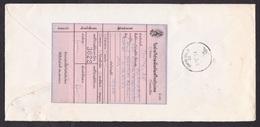 Thailand: Registered Cover, 1 Stamp, Philately, Nakhon To Kang Muang, Large Pink Postal Label/form At Back (staple Hole) - Thailand