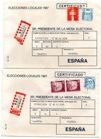 2 Cartas Certificada Con Matasellos De Bottrop 1987 - [7] República Federal