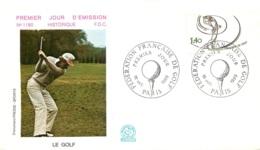 ENVELOPPE FDC PREMIER JOUR D'EMISSION 1980 LE GOLF - FDC