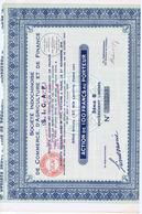 Action De 100 Francs Société Indochinoise De Commerce , D'Agriculture Er De Finance - Me FAY- PARIS - Asia