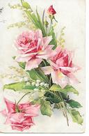 Illustrator - C. Klein - Rose And Lily-of-the-valley, Rose Et Muguet, Rose Und Maiglöckchen - Klein, Catharina
