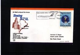 Argentina 1980 Lufthansa Flight LH 509 Buenos Aires - Sao Paulo - Briefe U. Dokumente