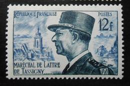 982 France 1954 Neuf Sans Charnière Ni Trace  Maréchal De Lattre De Tassigny - France