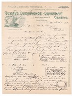 Facture De L'Atelier De Gravure Artistique Gustave Durouvenoz-Duvernay De Genève.Suisse.1930 - Suisse