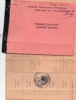 Permis De Petite Chasse AEF, Fort Lamy 1958 (lut.bleu) - Sport