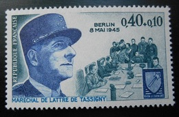 1639 France 1970 Neuf  Anniversaire Armistice Du 8 Mai 1945 Maréchal De Lattre De Tassigny Berlin - Neufs