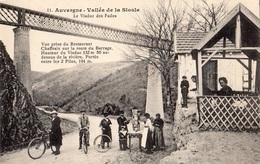 LE VIADUC DES FADES VUE PRISE DU RESTAURANT CHAFFRAIX SUR LA ROUTE DU BARRAGE DESSUS DE LA RIVIERE - France