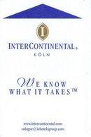 GERMANA KEY HOTEL  InterContinental Köln - Chiavi Elettroniche Di Alberghi